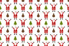 Het naadloze patroon van de Kerstman vector illustratie