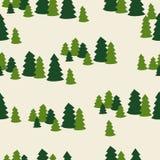 Het naadloze patroon van de Kerstmisboom Royalty-vrije Stock Fotografie