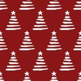 Het naadloze patroon van de Kerstmisboom Stock Afbeeldingen