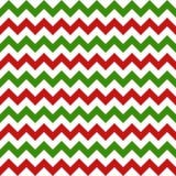Het naadloze patroon van de Kerstmischevron Stock Foto