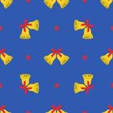 Het naadloze patroon van de Kerstmiswinter Stock Afbeelding