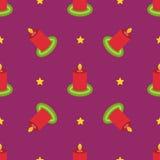 Het naadloze patroon van de Kerstmiswinter Royalty-vrije Stock Foto's