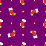 Het naadloze patroon van de Kerstmiswinter Stock Fotografie