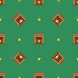 Het naadloze patroon van de Kerstmiswinter Royalty-vrije Stock Foto