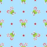 Het naadloze patroon van de Kerstmiswinter Royalty-vrije Stock Afbeelding