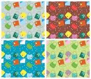 Het naadloze patroon van de kleur. Vector achtergronden met fas Royalty-vrije Stock Foto's