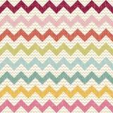 Het naadloze patroon van de kleurenchevron op linnentextuur Stock Foto's