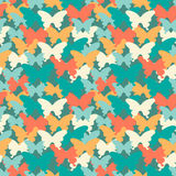 Het naadloze patroon van de in kleurenvlinder Geschikt voor textiel, verpakkend document, dekking, Webachtergrond en andere Vecto royalty-vrije illustratie