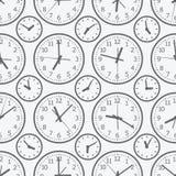 Het naadloze patroon van de klok Het elektronische apparaat Royalty-vrije Stock Afbeelding