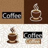 Het naadloze patroon van de koffie Stock Foto
