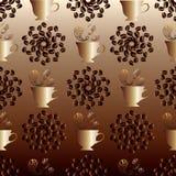 Het naadloze patroon van de koffie vector illustratie
