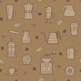 Het naadloze patroon van de koffie Stock Foto's