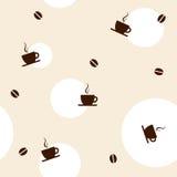 Het naadloze patroon van de koffie Stock Afbeelding
