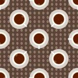 Het naadloze patroon van de koffiekop Royalty-vrije Stock Afbeeldingen