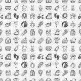 Het naadloze patroon van de krabbelbaby Royalty-vrije Stock Afbeeldingen
