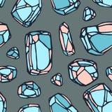 Het naadloze patroon van de kristalsteen Royalty-vrije Illustratie