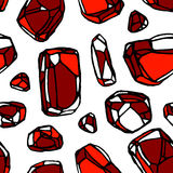 Het naadloze patroon van de kristalsteen Vector Illustratie