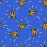 Het naadloze patroon van de kroon Royalty-vrije Stock Afbeelding