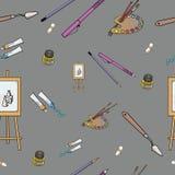 Het naadloze patroon van de kunst stock afbeeldingen