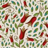 Het naadloze Patroon van de Lelie van de Krabbel Royalty-vrije Stock Afbeeldingen