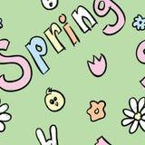 Het Naadloze Patroon van de lente Stock Afbeelding