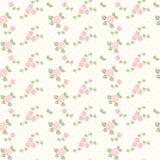 Het naadloze patroon van de lente met harten en rozen stock foto