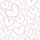 Het naadloze patroon van de leuke valentijnskaart met harten Royalty-vrije Stock Afbeelding
