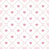 Het naadloze patroon van de leuke valentijnskaart met harten Stock Afbeeldingen