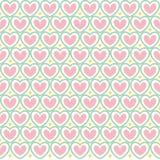 Het naadloze patroon van de leuke valentijnskaart met harten Royalty-vrije Stock Foto's