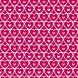 Het naadloze patroon van de leuke valentijnskaart met harten Royalty-vrije Stock Foto