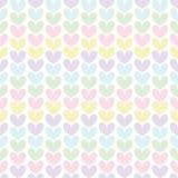 Het naadloze patroon van de leuke valentijnskaart met harten Stock Afbeelding