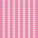 Het naadloze patroon van de leuke valentijnskaart met harten Stock Fotografie