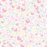 Het naadloze patroon van de leuke valentijnskaart met harten Stock Foto's
