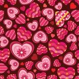 Het naadloze patroon van de liefde Stock Fotografie