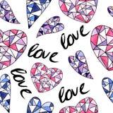 Het naadloze patroon van de liefde Royalty-vrije Stock Afbeeldingen