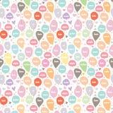Het Naadloze Patroon van de liefdeballon met Hart en Ster Royalty-vrije Stock Afbeeldingen