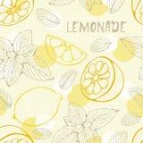 Het naadloze patroon van de limonade Royalty-vrije Stock Foto's