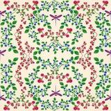 Het naadloze patroon van de Lingonberrybosbes Stock Foto's