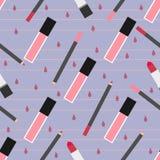 Het naadloze patroon van de lippensamenstelling Royalty-vrije Stock Foto