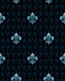 Het naadloze patroon van DE lis van Fleur Stock Fotografie