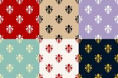 Het naadloze patroon van DE lis van Fleur Stock Foto's