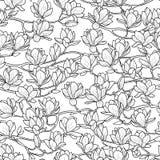 Het Naadloze Patroon van de magnolialente stock illustratie