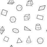 Het naadloze patroon van de meetkundewetenschap stock illustratie