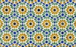 Het naadloze patroon van de mozaïektegel als achtergrond Royalty-vrije Stock Fotografie