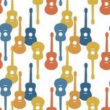 Het naadloze patroon van de muziek Stock Fotografie