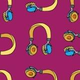 Het naadloze patroon van de muziek Royalty-vrije Illustratie