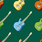 Het naadloze patroon van de muziek Stock Illustratie