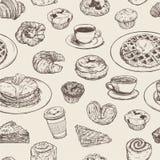Het naadloze patroon van de ontbijtmaaltijd vector illustratie