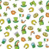Het naadloze patroon van de Patricksdag Royalty-vrije Stock Afbeeldingen