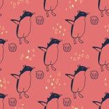Het naadloze patroon van de pinguïnenlevensstijl Stock Fotografie